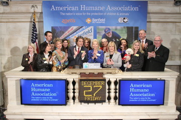 Lois Pope American Humane Association Rings the NYSE Bell