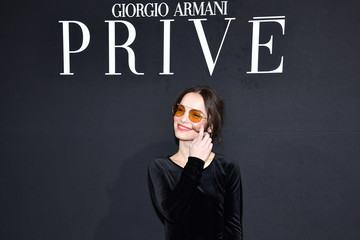 Lola Le Lann Giorgio Armani Prive : Front Row - Paris Fashion Week - Haute Couture Spring Summer 2017