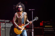 Lenny Kravitz performs during the third day of Lollapalooza Buenos Aires 2019 at Hipodromo de San Isidro on March 31, 2019 in Buenos Aires, Argentina.