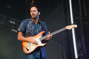 Eric Cannata of Young the Giant performs during 2014 Lollapalooza Day Three at Grant Park on August 3, 2014 in Chicago, Illinois.