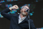 Matt Berninger of The National, band perform during the first day of Lollapalooza Chile 2018 at Parque O'Higgins on March 16, 2018 in Santiago, Chile.