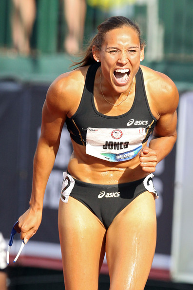 Lolo Jones Lolo Jones reacts after qualifying for 2012 Olympics after