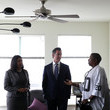 London Breed California Gubernatorial Candidate Gavin Newsom Tours Low-Income Apartment Complex With SF Mayor London Breed