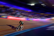 Mark Cavendish of Great Britain competes in the Mens Chase on day three of the London Six Day Race at the Lee Valley Velopark Velodrome on October 26, 2017 in London, England.