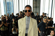 Flaviana Matata attends the Longchamp Fall/Winter 2020 Runway Show at Hudson Commons on February 08, 2020 in New York City.