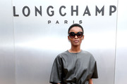 Flaviana Matata attends the Longchamp SS20 Runway Show at Hearst Plaza, Lincoln Center on September 07, 2019 in New York City.