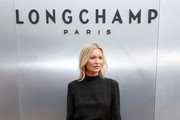 Kate Moss attends the Longchamp SS20 Runway Show at Hearst Plaza, Lincoln Center on September 07, 2019 in New York City.