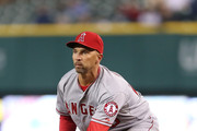 Raul Ibanez #28 of the Los Angeles Angels of Anaheim gets ready to field the ball during the eight inning of the game against the Detroit Tigers at Comerica Park on April 18, 2014 in Detroit, Michigan. The Angels defeated the Tigers 11-6.