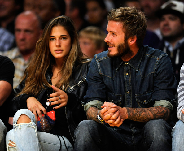 David+Beckham in Los Angeles Clippers v Los Angeles Lakers