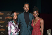 (L-R) Actors Letitia Wright, Winston Duke, and Danai Gurira attend the Los Angeles Global Premiere for Marvel Studios' Avengers: Infinity War on April 23, 2018 in Hollywood, California.