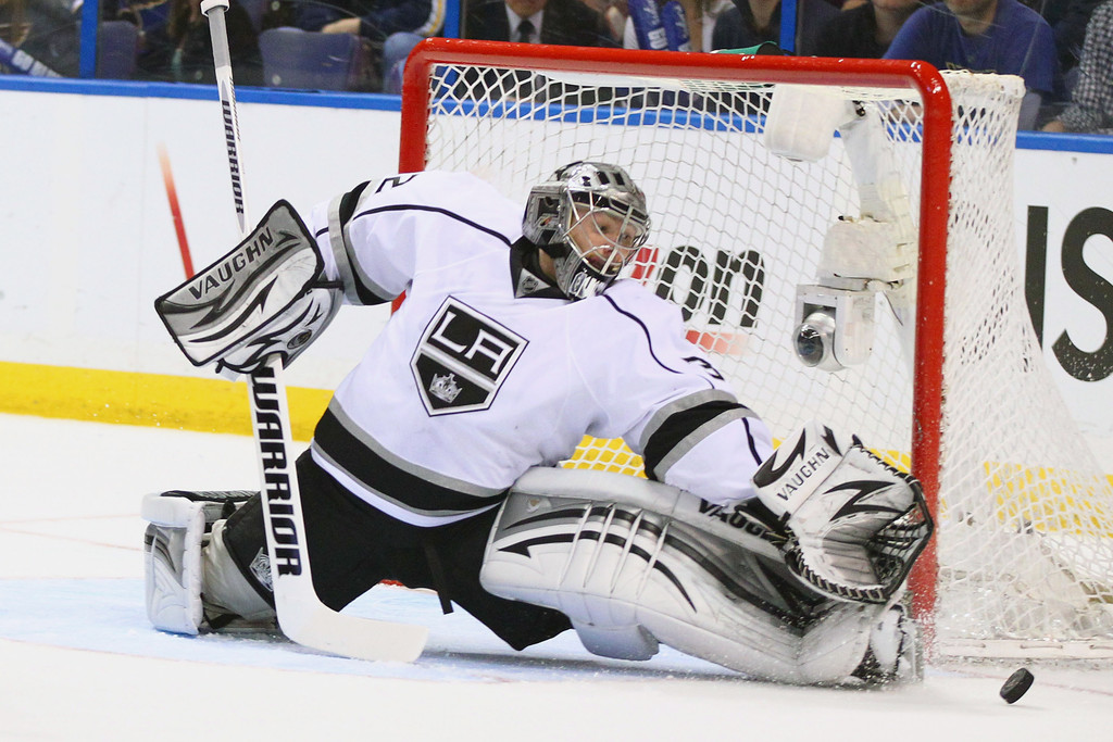 Jonathan Quick In Los Angeles Kings V St Louis Blues