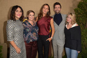 "Series co-creator Jennifer Konner, EVP HBO Programming Amy Gravitt, actress Jennifer Garner, actor David Tennant and guest attend the Los Angeles premiere of the HBO series ""Camping"" at Paramount Studios on October 10, 2018 in Hollywood, California."