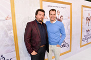 """Danny McBride and Casey Bloys attends the Los Angeles premiere of New HBO Series """"The Righteous Gemstones"""" at Paramount Studios on July 25, 2019 in Hollywood, California."""