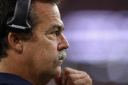Head coach Jeff Fisher of the Los Angeles Rams looks on during the NFL game against the Arizona Cardinals at the University of Phoenix Stadium on October 2, 2016 in Glendale, Arizona. The Rams defeated the Cardinals 17-13.