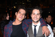 Actors Tyler Posey and Dylan O'Brien attend the Los Angeles Special Screening of 'American Assassin' on September 12, 2017 in Hollywood, California.