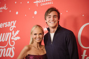 "Kevin Quinn and Kristin Chenoweth arrives at the Los Angeles special screening of Hallmark Channel's ""A Christmas Love Story"" at Montage Beverly Hills on October 21, 2019 in Beverly Hills, California."