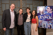 "Michael Rapaport , Keir Gilchrist,  Brigette Lundy-Paine and Amy Okuda attend the Los Angeles Special Screening of Netflix's ""Atypical"" Season 2""  at The London Hotel on September 5, 2018 in West Hollywood, California."