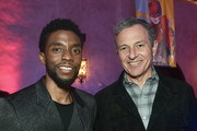 """(L-R) Chadwick Boseman and The Walt Disney Company Chairman and CEO Bob Iger attend the Los Angeles World Premiere of Marvel Studios' """"Captain Marvel"""" at Dolby Theatre on March 4, 2019 in Hollywood, California."""