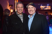 """(L-R) The Walt Disney Company Chairman and CEO Bob Iger and President of Marvel Studios and producer Kevin Feige attend the Los Angeles World Premiere of Marvel Studios' """"Captain Marvel"""" at Dolby Theatre on March 4, 2019 in Hollywood, California."""