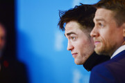 Actor Robert Pattinson and actor Charlie Hunnam attend the 'The Lost City of Z' photo call during the 67th Berlinale International Film Festival Berlin at Grand Hyatt Hotel on February 14, 2017 in Berlin, Germany.