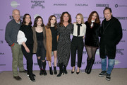 """Reed Birney, Miriam Shor, Molly Brown, Oona Laurence, Liz Garbus, Amy Ryan, Lola Kirke, and Dean Winters attend the Netflix """"Lost Girls"""" Premiere at Eccles Center Theatre on January 28, 2020 in Park City, Utah."""