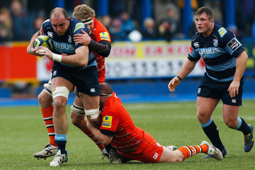 Lou Reed Cardiff Blues v Leicester Tigers - LV= Cup