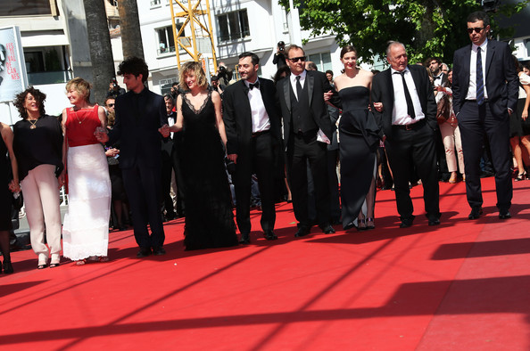 'Un Chateau En Italie' Premieres in Cannes [red carpet,red,carpet,event,suit,formal wear,flooring,premiere,ceremony,tuxedo,may 20,xavier beauvois,guest,filippo timi,andre wilms,premiere,un chateau en italie premieres in cannes,palais des festivals,cannes,france]