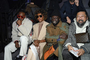 (L-R) Skepta,Naomi Campbell, a guest and Takashi Murakami attend the Louis Vuitton Menswear Fall/Winter 2019-2020 show as part of Paris Fashion Week on January 17, 2019 in Paris, France.