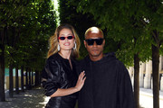Doutzen Kroes and Sunnery James attend the Louis Vuitton Menswear Spring/Summer 2019 show as part of Paris Fashion Week on June 21, 2018 in Paris, France.