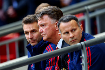 Louis van Gaal Manager Everton v Manchester United - The Emirates FA Cup Semi Final