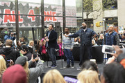 """(L-R) Tony Borowiak, Delious Kennedy, Jamie Jones and Alfred Nevarez of All-4-One perform live on stage for NBC's """"Today"""" at Rockefeller Plaza on April 29, 2016 in New York City."""