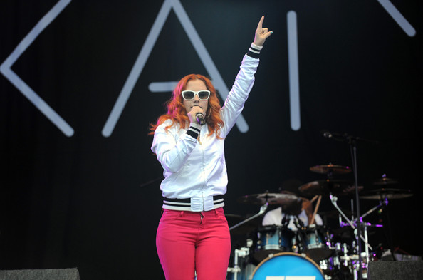 Katy B performs on day 2 of Lovebox on July 16, 2011 in Victoria Park in London, England.