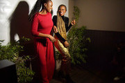 "Issa Rae and Yvonne Orji pose for photo booth at the Lowkey ""Insecure"" Dinner presented by Our Stories to Tell at Firewood on January 25, 2020 in Park City, Utah."