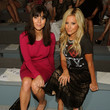 She sits in the front row at Fashion Week with Jamie-Lynn Sigler.