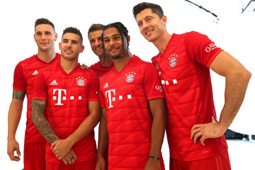 Lucas Hernandez FC Bayern Muenchen And Paulaner Photo Session