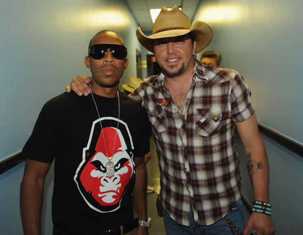Jason Aldean With Luke Bryan In Concert [my kinda party,fun,cool,event,t-shirt,hat,fashion accessory,jason aldean,luke bryan in concert,recording artist ludacris,georgia,atlanta,aarons amphitheatre,tour stop]