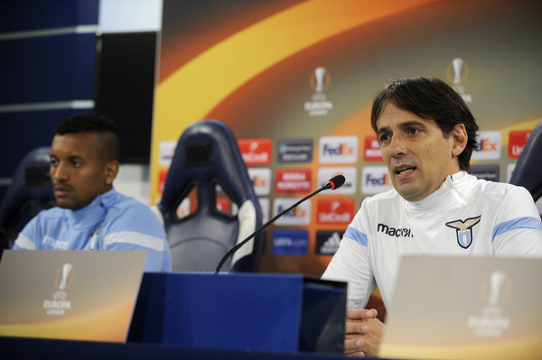 SS Lazio Training Session And Press Conference [technology,event,job,world,simone inzaghi,luis nani,rome,italy,ss lazio,ss lazio training session and press conference,press conference]