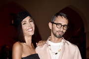 Caterina Balivo and Simone Marchetti attend the Luisa Spagnoli fashion show during the Milan Fashion Week Spring/Summer 2020 on September 20, 2019 in Milan, Italy.