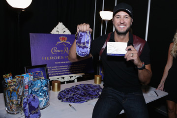Luke Bryan Country Music Artists Stuff Crown Royal CAMO Care Packages Backstage at the CMT Music Awards