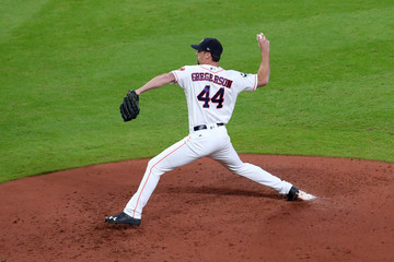 Luke Gregerson World Series - Los Angeles Dodgers v Houston Astros - Game Five