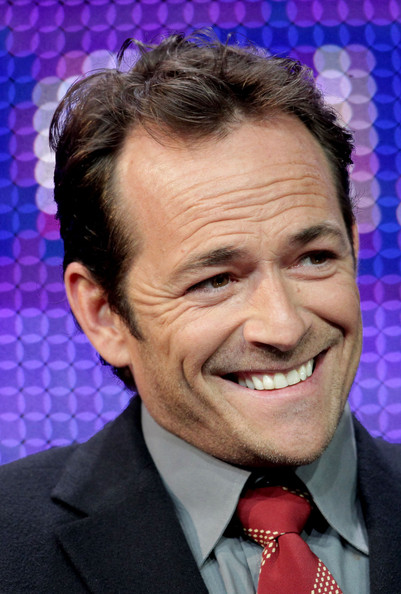 Luke Perry Actor Luke Perry speaks during the 'Goodnight for Justice' panel at the Hallmark Movie Channel portion of the 2011 Winter TCA press tour held at the Langham Hotel on January 7, 2011 in Pasadena, California.