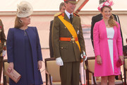 (L-R) Grand Duchess Maria Teresa of Luxembourg, Grand Duke Henri of Luxembourg and Princess Stephanie of Luxembourg celebrate National Day during the parade on June 23, 2014 in Luxembourg, Luxembourg.