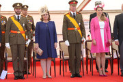 (L-R) Prince Guillaume of Luxembourg, Grand Duchess Maria Teresa of Luxembourg, Grand Duke Henri of Luxembourg and Princess Stephanie of Luxembourg celebrate National Day during the parade on June 23, 2014 in Luxembourg, Luxembourg.