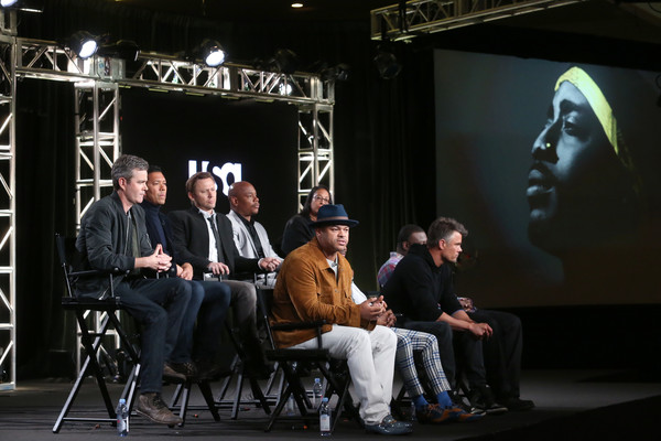 2018 Winter TCA Tour - Day 6 [kyle long,anthony hemingway,lyah beth leflore,creator,actors,guest panelist,co-producer,jimmi simpson,top l-r,event,stage,performance,heater,music,performing arts,winter tca]