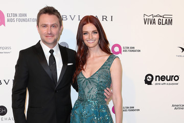 Lydia Hearst Chris Hardwick Celebrities Attend an Oscar Viewing Party