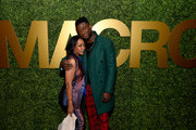 (L-R) Tichina Arnold and Sinqua Walls attend the 3rd Annual MACRO Pre-Oscar Party on February 06, 2020 in West Hollywood, California.