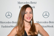 Julia Allison attends the Mercedes-Benz Star Lounge during Mercedes-Benz Fashion Week Spring 2014 on September 11, 2013 in New York City.