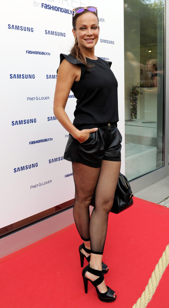 Sonja Kirchberger Attends Samsung Designer Mercedes Benz Fashion Week
