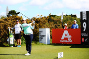 Yani Tseng of China tees off during day one of the McKayson New Zealand Women's Open at Windross Farm on September 28, 2017 in Auckland, New Zealand.