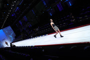 Models walk the runway during rehearsal ahead the MDLA by Bill Kaulitz fashion show during the AYFW - About You Fashion Week at ewerk on July 06, 2019 in Berlin, Germany.